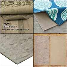 Mohawk Home Dual Surface Felt and Latex Non Slip Rug Pad 1//4 Inch 2/'x12/'