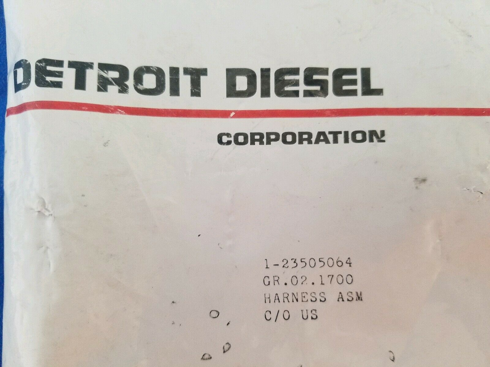 GR-2.1700 P//N 23505064 DETROIT DIESEL LEFT BANK INJECTOR HARNESS ASSEMBLY