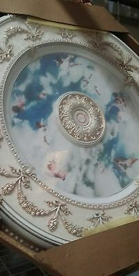 Cherubs Ceiling Medallion Round Circle