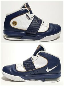 detailed look 3a8ef 65096 Details about 🔥RARE Womens Nike Zoom Lebron Soldier IV Shoes  Blue/Gold/White 407707-401 Sz 8