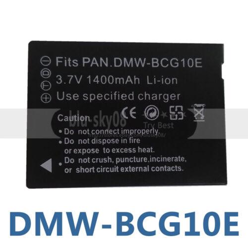 Nuevo Dmw-bcg10e Batería Para Panasonic Lumix Tz7 Tz8 Tz10 Dmc-tz20 actualizado Chip