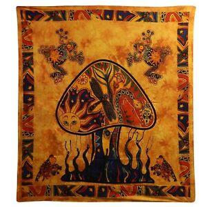 Copriletto-matrimoniale-copridivano-indiano-Fungo-arancio-230x200cm-100-cotone