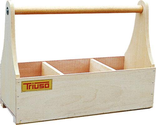 TRIUSO Holz Nagelkiste 50x20x27 cm Werkzeugkasten Werkzeugträger Kiste Kasten
