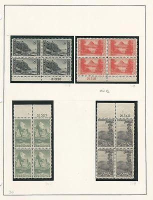 Analytisch Vereinigte Staaten Sammlung #740-749 Mint Platte Block, Parks 1934 Und Ein Langes Leben Haben.