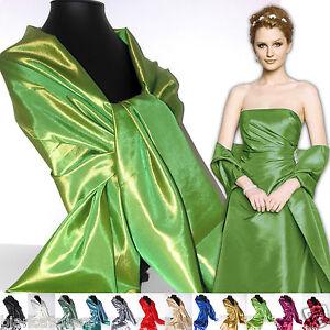 newest a4cde 73467 Dettagli su STOLA Verde Brillante CERIMONIA taffetà pochette borsa abito  elegante D0335