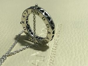 2d581dd92 Image is loading GENUINE-PANDORA-HEARTS-OF-PANDORA-NECKLACE-590514CZ-45