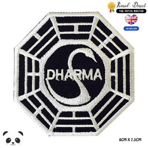Dharma-Symbol-Embroidered-Iron-On-Sew-On-Patch-Badge-For-Clothes-etc
