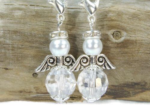 10 DIY Schutzengel Perlen Anhänger Facettenperlen Schlüsselanhänger