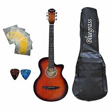 Bluegrass A180C Medium Acoustic Guitar Redburst  With Free Case, String & Picks