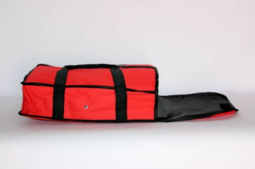 """Pizza Food Delivery Bag Red Thermal Insulated NYLON holds 2 16/"""" Pizzas Pies"""