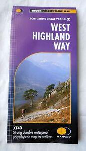 Harvey-carte-de-randonnee-West-Highland-Way-impermeable-XT40-polyethylene-neuf