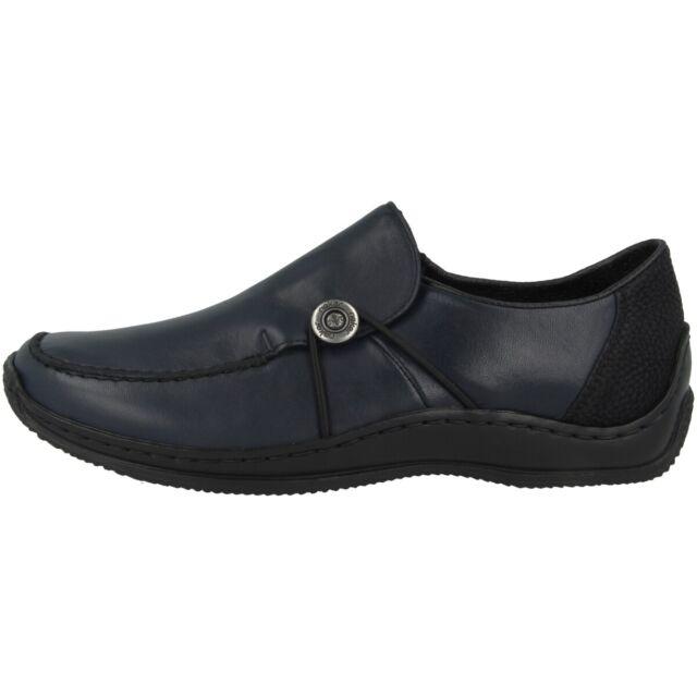 Rieker Halbschuhe Leder Schnürschuhe Schuhe blau Gr.36 42 L3220 14 Neu3