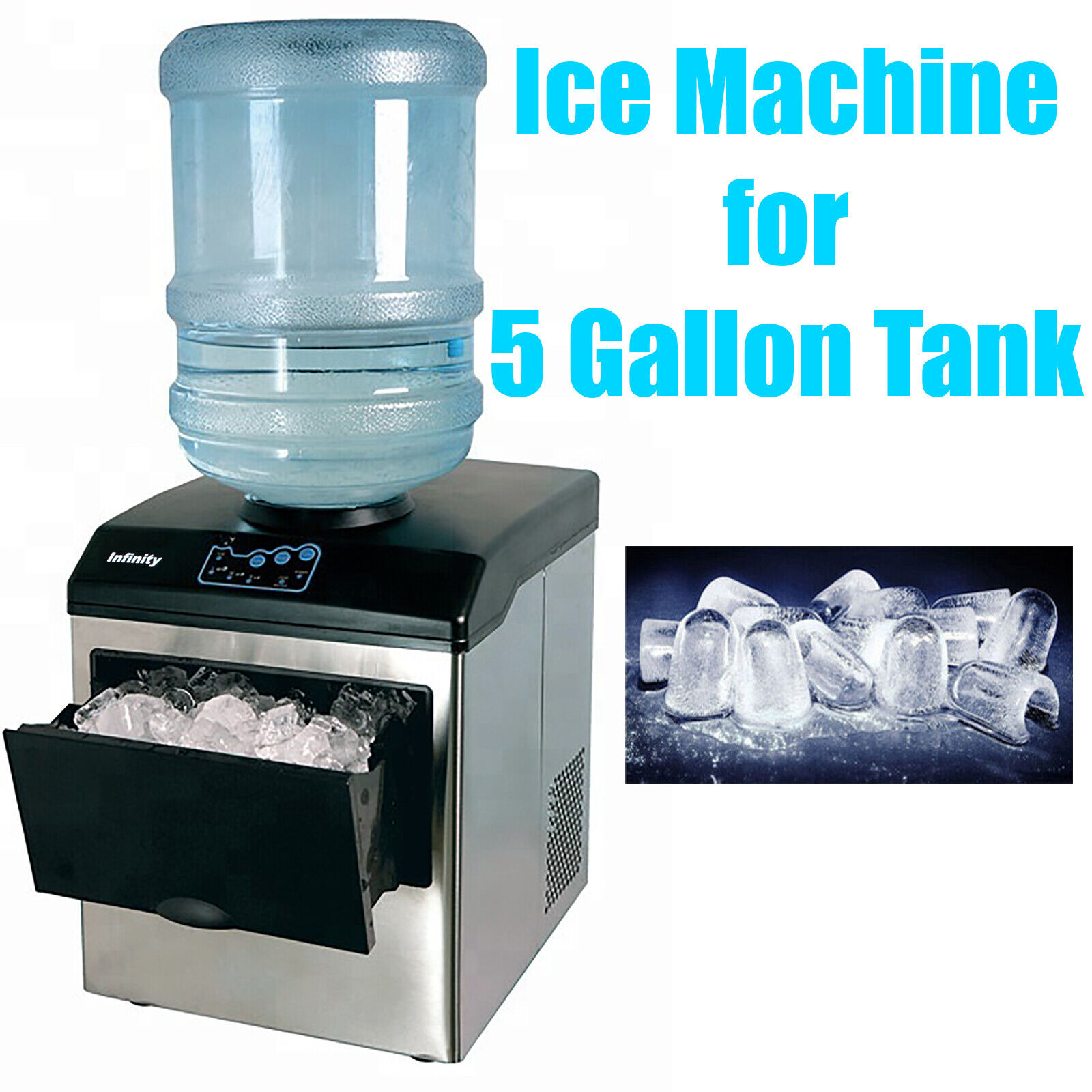 Countertop Ice Maker Machine For 5 Gallon Water Bottle For Sale Ebay