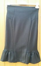 Diane Von Furstenberg DVF Black  Wool Pencil Skirt US2 Uk6