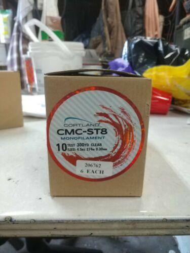Cortland CMC-ST8 Monofilament Ligne De Pêche environ 4.54 kg environ 274.32 m Lot de 6 bobines-Test 10 lb X 300 Yd