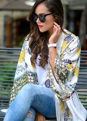 Markenqualität High Fashion Top Marken ZARA Kimono♡Kleid♡Tunika♡Mantel♡Cardigan♡Fringe♡Jacke♡Morgenmantel♡S 36 38    eBay