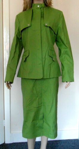18 Business Tailored Nuovo Work Skirt Green londra Suit Tailuit Divino Sz 20 ExqSaz7n