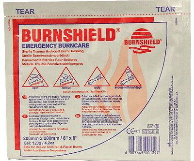 2 x Burnshield Burn Gel Dressings 20cm x 20cm - Long Expiry Dates - July 2020