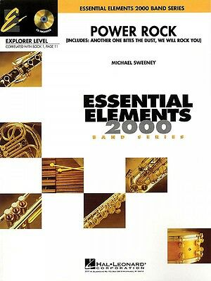Power Rock Essential Elements Explorer Level Book And Audio New 000860504 Quell Summer Thirst Musical Instruments & Gear