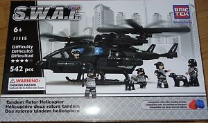 Tandem Rotor Helicopter SWAT BricTek Building Block Construction Brick Toy 11115