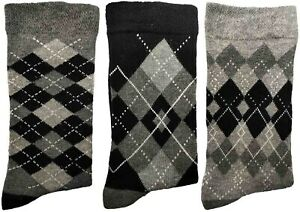 3 Pairs of Ladies JA5 Patterned Cotton Socks by Jennifer Anderton , UK Size 4-8