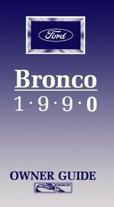1990 Ford Bronco Owners Manual User Guide Reference ...