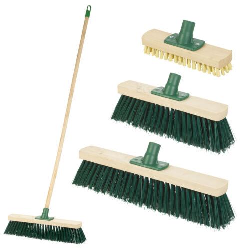 1,2 M tradizionale ESTERNO GIARDINO sweep PENNELLO Yard Pavimento in legno manico della scopa