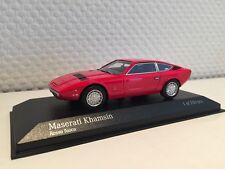Maserati Khamsin 1977 rot 1:43  Minichamps neu & OVP 437123224