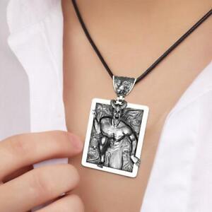 Vintage-Thriller-Devil-Demon-Horn-Skull-Punk-Pendant-Necklace-Shippin-Free