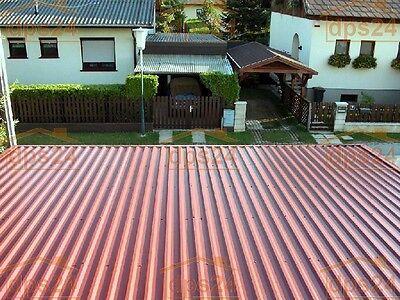 RüCksichtsvoll Profilblech Trapez Stahlblechplatten 0.5mm 1.-wahl-qualität Verzinkt U.besch Fürs Dach Baustoffe & Holz ZuverläSsige Leistung