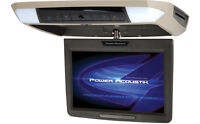 Power Acoustik Pmd-112 Overhead Flipdown 11.2 Lcd Monitor Dvd Player Black Gray