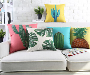 Novelty-gift-cactus-pineapple-monstera-leaf-Cushion-Cover-decorative-pillow-Case