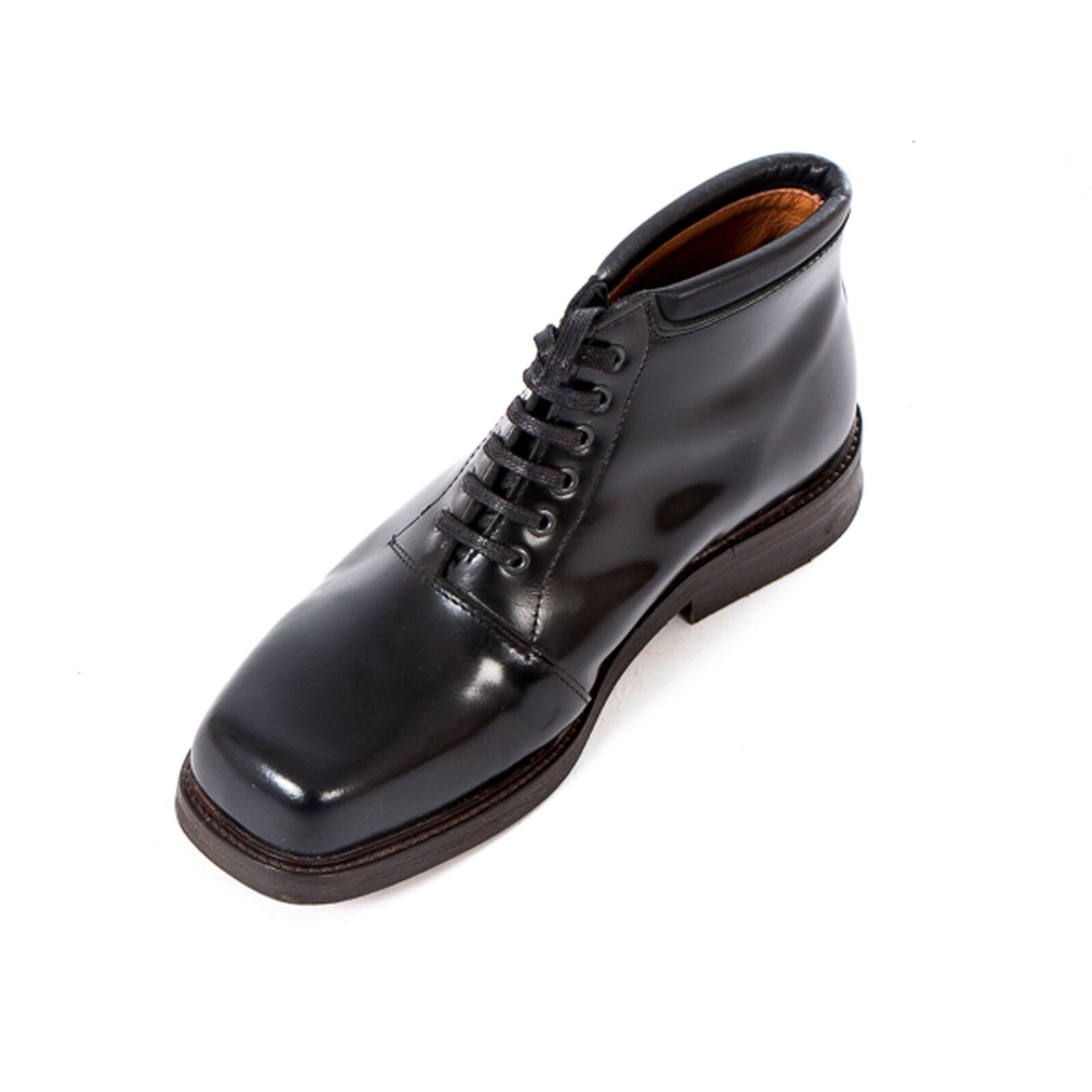 Boots & 4-Loch Braces - Oxford Black 4-Loch & Schuh Ledersohle Business Leder Made in EU 69844b
