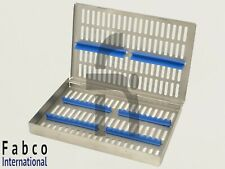 German Dental Autoclave Sterilization Cassette Rack Box Tray For 20 Instrument