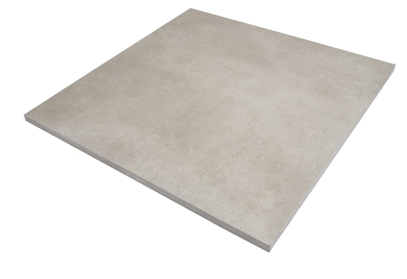 25 m² Terrassenplatten Sand 60x60cm Keramik Feinstein Stein Terrassenfliesen
