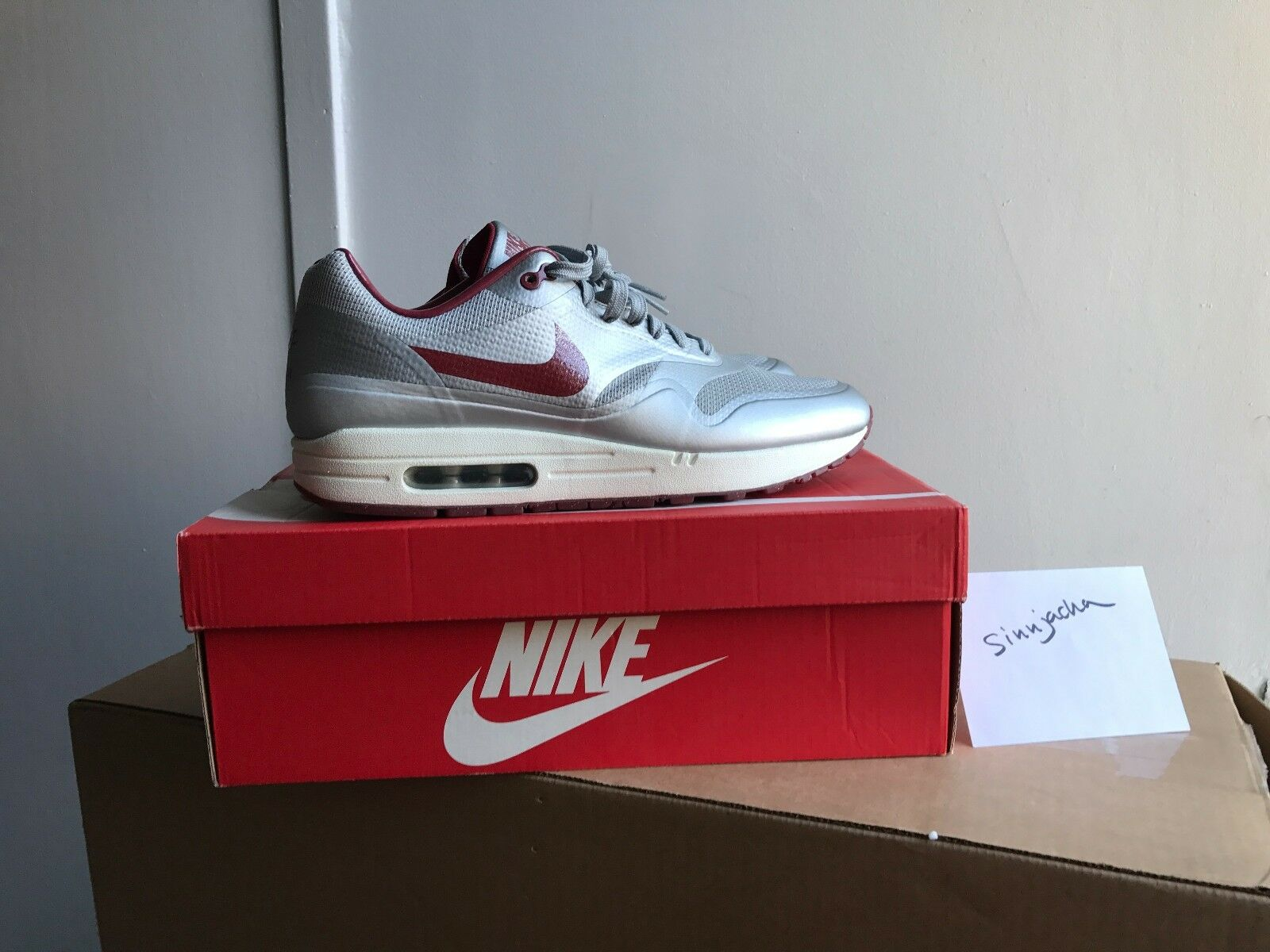 quickstrike nike air (argent max 1 hyperfuse 10,5 633087 006 (argent air / taille de rouge profond) 99c29a