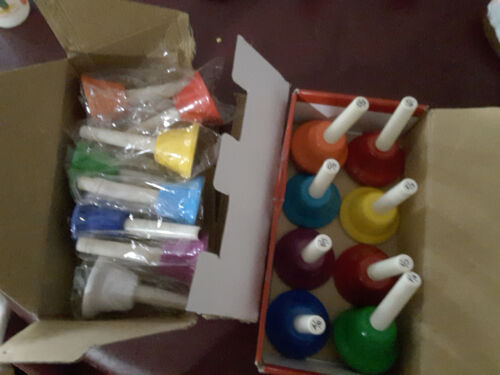 Handbell Hand Bell 8-Note Metal Colorful Kid Children Musical Toy Percussio T6L8