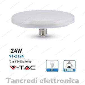 Lampadina-led-V-TAC-24W-160W-E27-bianco-freddo-6400K-VT-2124-ufo-disco-F200