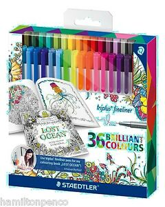 Pack of 10 Assorted Colourworld Colours Fineliners Fine 0.4mm Water based ink