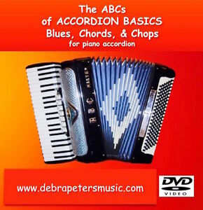 Details about ABC's Piano Accordion Lessons - DVD - Blues Chords & Chops -  Debra Peters TX