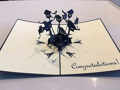 Congratulation Graduation Cap 3d Pop Up Handmade Origami Gift Card