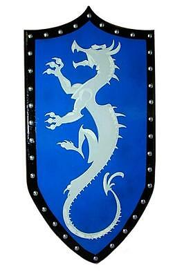 Gothic Wooden DRAGON SHIELD -- sca/larp/medieval/norse/viking/wooden/armor - NEW