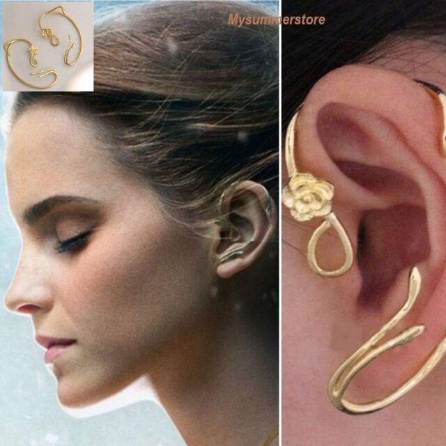 6c730231dd816 Disney Beauty and The Beast Belle Rose Earring Ear Cuff Gold Plated Copper  JEWEL