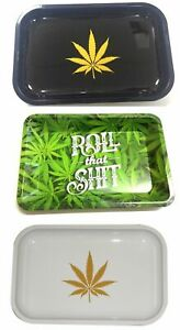 Metal Mini Tray Rolling Papers Smokers Rizla Rolling Roll Up Prep Tobacco