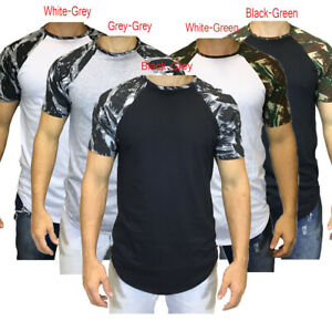 Men-Short-Sleeve-T-Shirt-Slim-Fit-Casual-Blouse-Tops-Clothing-Muscle-TeeS-Summer