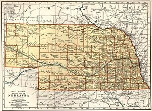 1940 Antique Nebraska State Map Collectible Map Of Nebraska Gallery