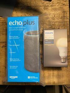 Nuevo SELLADO Amazon Eco Plus (2nd Gen.) & Bombilla Philips...