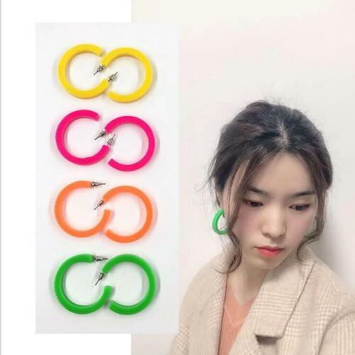 Mince de résine Hoop Boucles d/'oreille tortue en forme de C acrylique acétate boutique bijoux