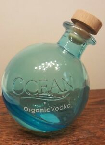 Details about Ocean Organic Vodka 750ml blue empty bottle