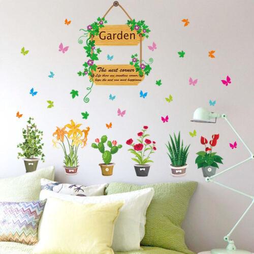 DIY Flowers Plants Wall Paper Decals Bedroom Window Decoration Art Stickers